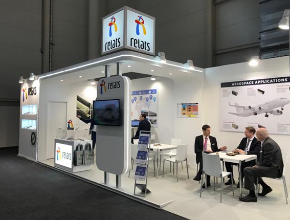 Relats auf der Aircraft Interiors Expo-Hamburg, April 2018 - Relats S.A.